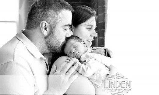 Liam and his exhausted parents.... one week