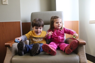 Big Bro and Big Sis-co at the hospital to meet Catriona