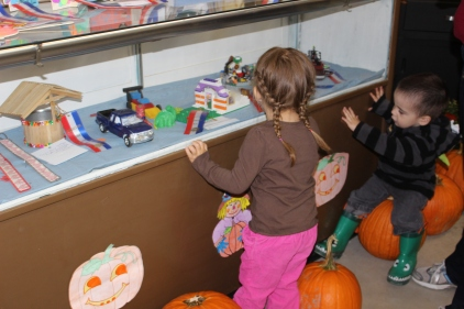 checking out the kids craft corner