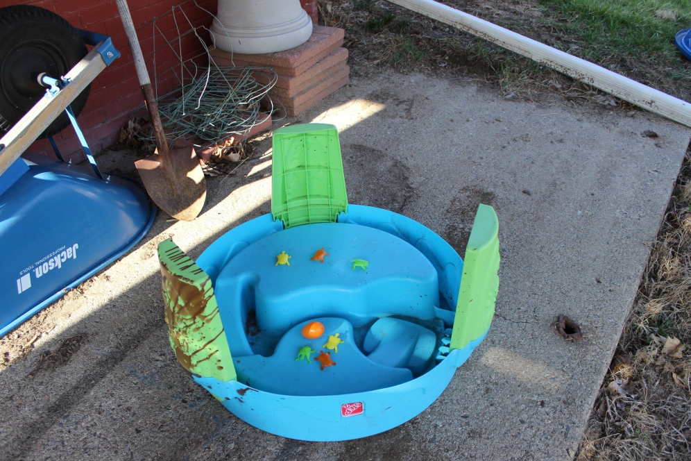 Bunny Party (Yes, I spilled stain on the water table)